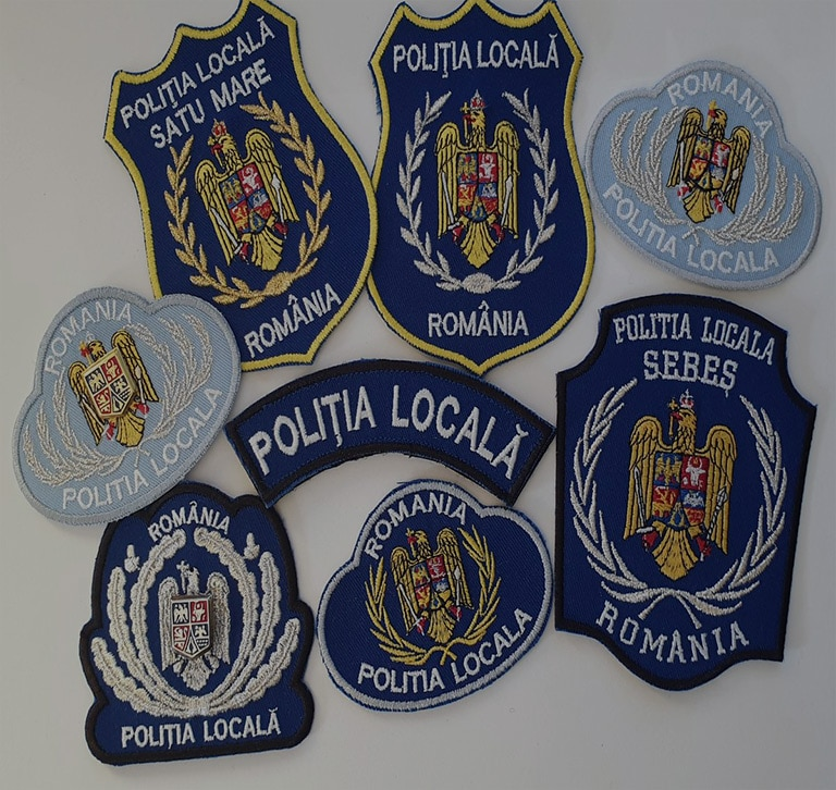 Embroidered Local Police emblems